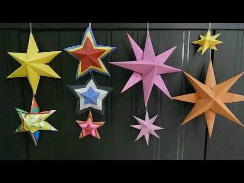 DIY 3d paper star | Origami Christmas star | Christmas decorations| paper decorations