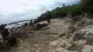 Nauru Walking on the Beach