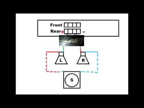 Подключение сабвуфера (параллельно с колонками)