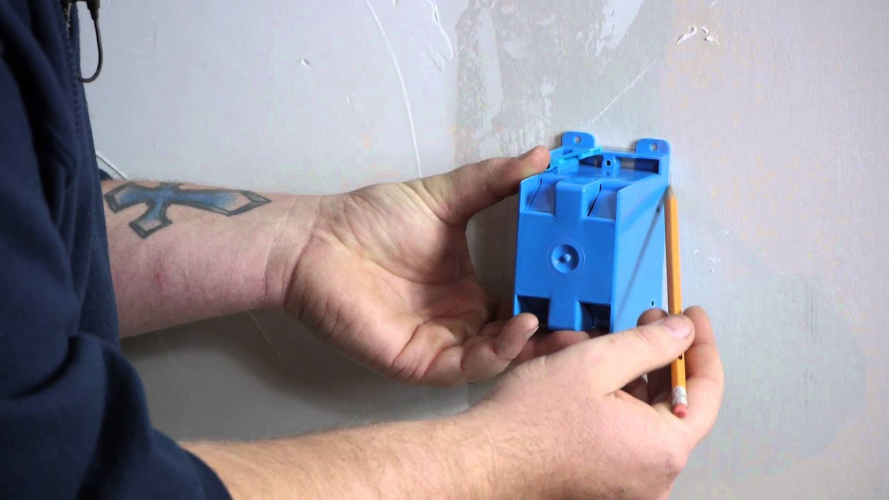 How to Install a Single-Gang Switch Box in Drywall : DIY Electrical ...