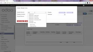 Accounting - Budget your Operations in Odoo