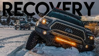 We made it! Recovering 3 Tacoma's On Snow Trail | Sedro Woolley, Washington + Pre Runner Walkaround""