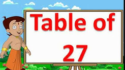Table of 27 | Kids Multiplication | AEG