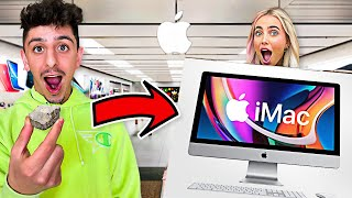 Trading a Rock FOR an iMac (ft. Lexi) **IT WORKED**