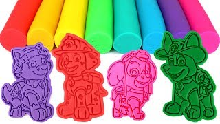 Paw Patrol Play Doh Molds Learn Colors with Skye Everest Tracker Marshall Chase Rubble Zuma Rocky