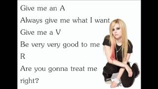 Скачать Avril Lavigne The Best Damn Thing Lyrics Letra