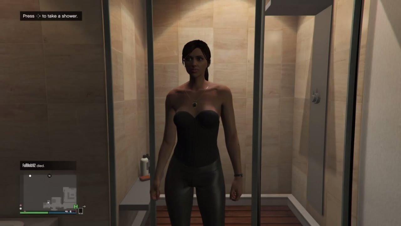 gta online female character shower