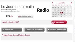Radio RTS.ch - Le journal du matin - Bitcoin