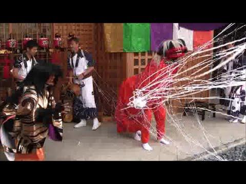 六斎念仏踊り (4. 獅子と土蜘蛛...
