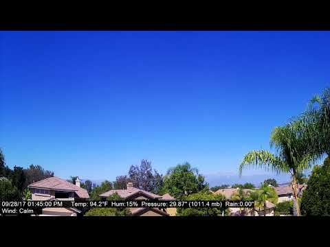 Chino Hills Time-Lapse 9/28/17