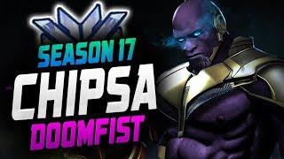 CHIPSA RANK 1 DOOMFIST GAMEPLAY! [ OVERWATCH SEASON 17 TOP 500 ]