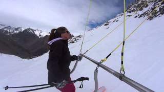 Ski Portillo - Up and down the CaraCara on the Va et Vient lift