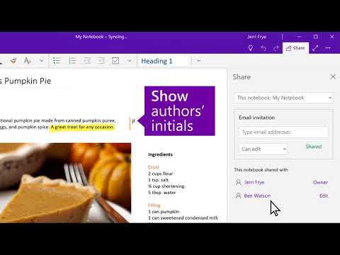 OneNote Tips: Discover how to share notes
