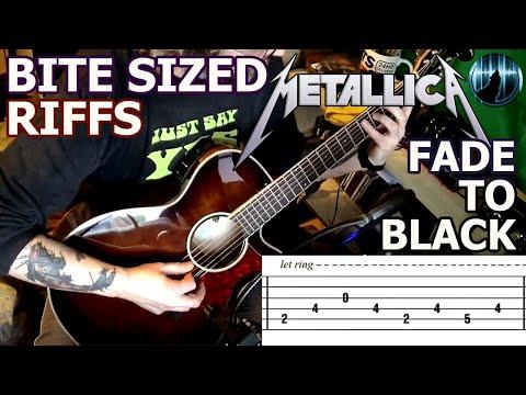 Bite Sized Riffs | Metallica - Fade To Black | Arpeggio Guitar Intro