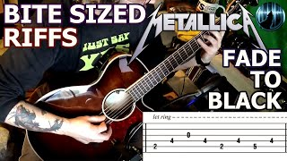 Bite Sized Riffs   Metallica - Fade To Black   Arpeggio Guitar Intro