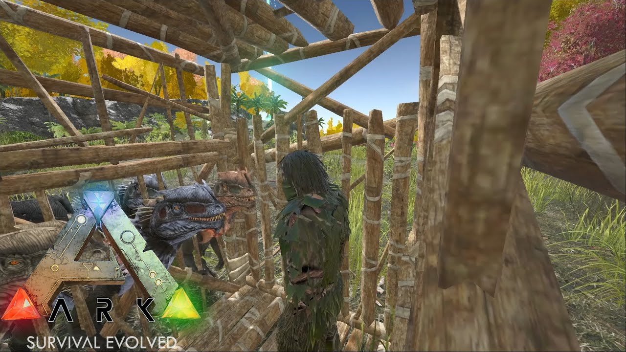 ARK: Survival Evolved - Fireplace & Primitive Cage! - S1Ep17 - YouTube