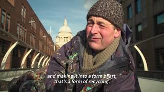 London's 'chewing gum man' fuses art with recycling