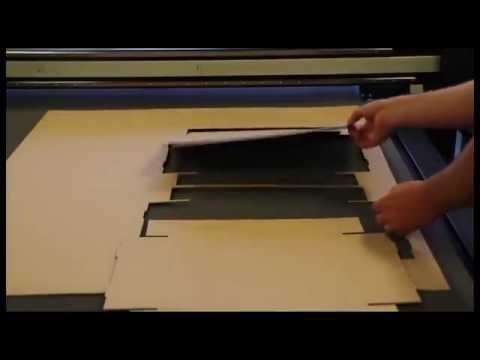 Резка и биговка картона (делаем коробки) - Summa F Series
