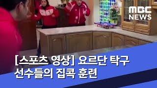 [스포츠 영상] 요르단 탁구 선수들의 집콕 훈련  (2…