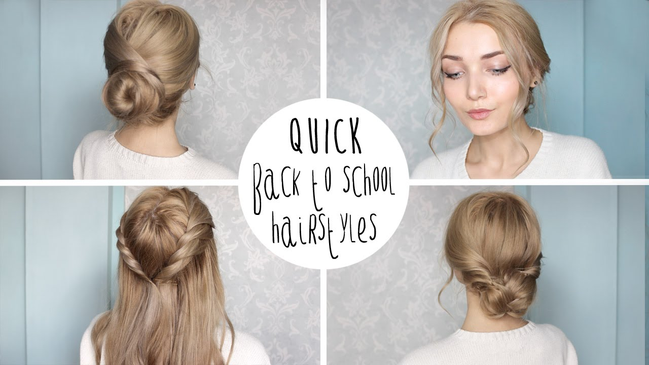 Easy Cute Back To School Hairstyles - YouTube