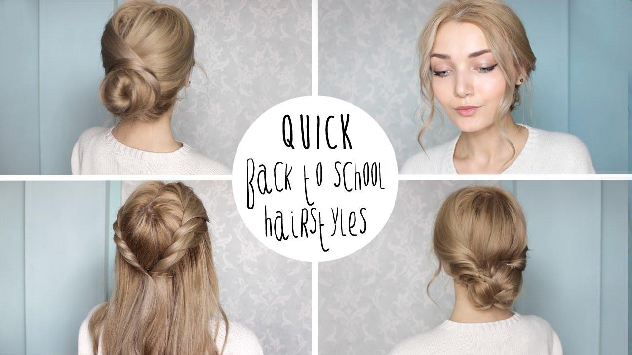 easy cute school hairstyles