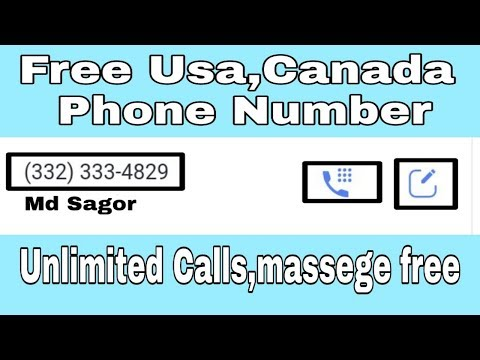 How To Get Free Usa,Canada Phone Number?Unlimited Calls And Text Message.