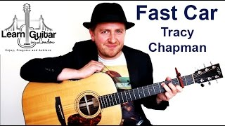 Fast Car - Guitar Lesson - Tracy Chapman - How To Play - Part 1