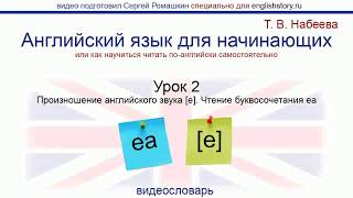 Английский язык для начинающих. Обучение чтению. Урок 2. Произношение английского звука [e]