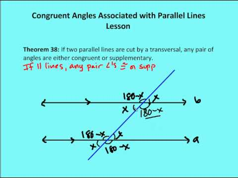 5 3 Congruent Angles Associated With Parallel Lines