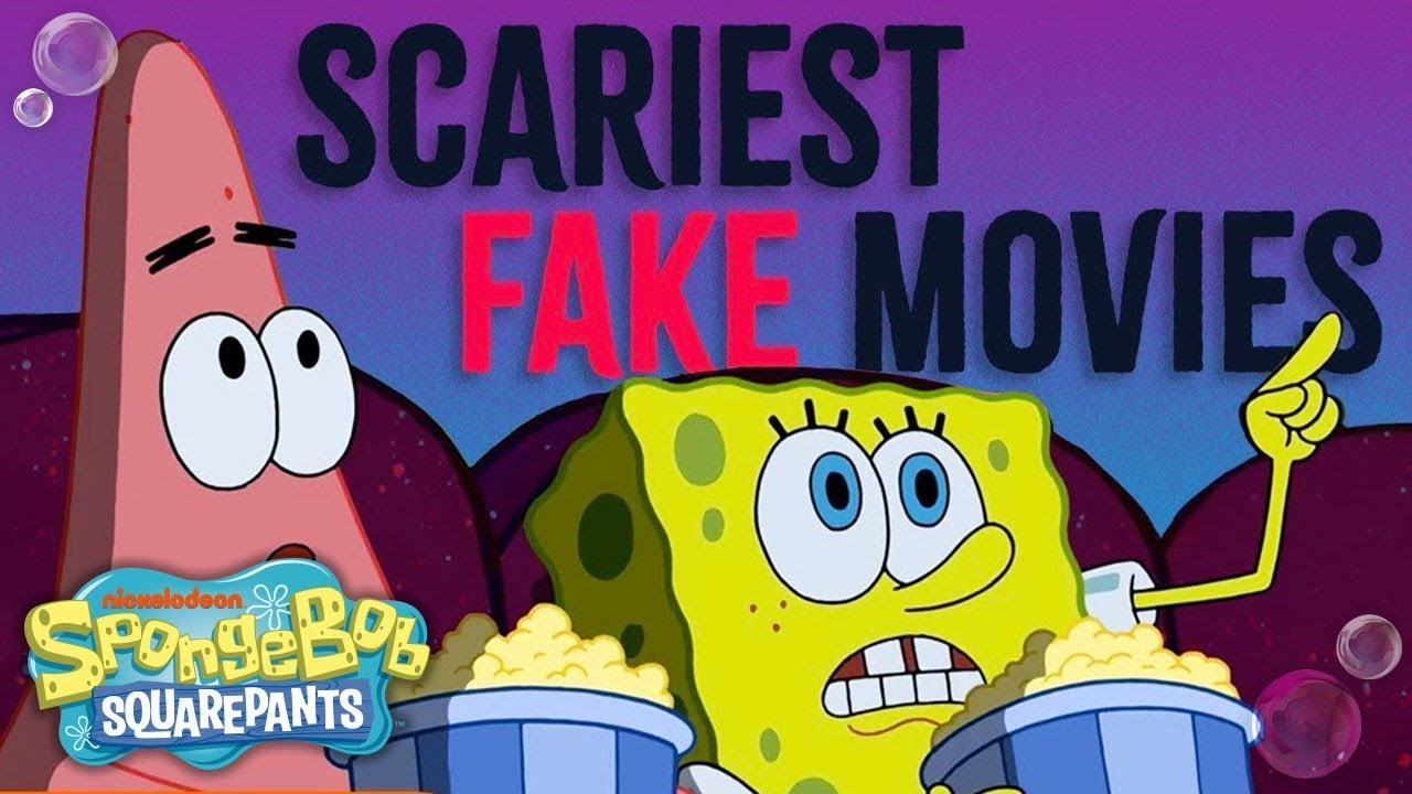"top 3 scariest ""totally fake"" movies! 👻 ft. spongebob squarepants"