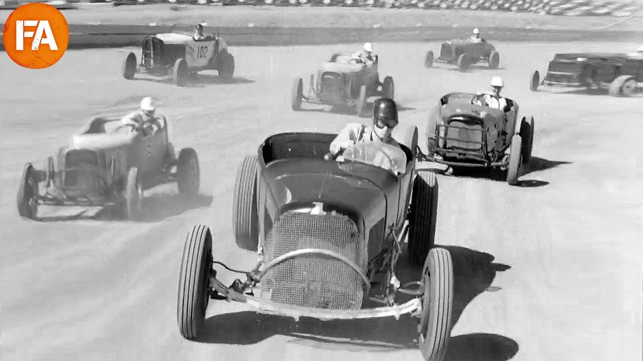 Car Racing in the 1940s – Vintage Footage