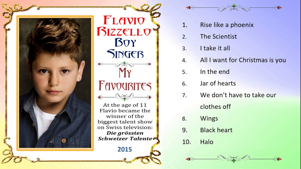 Flavio Rizzello, boy singer, soprano, All I Want for Christmas is ...