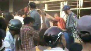 Cops Watch Buddhists' & Muslims' Violent Fight (Disturbing Video)