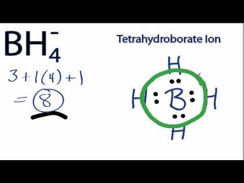 BH4- Lewis Structure: How to Draw the Lewis Structure for the BH4-