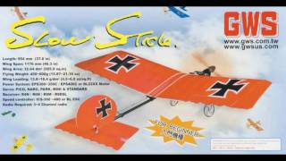 Modified Flat Wing BL GWS Slow Stick Flight Effect of CG