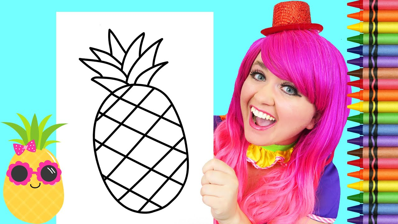 Coloring a Pineapple | Crayons