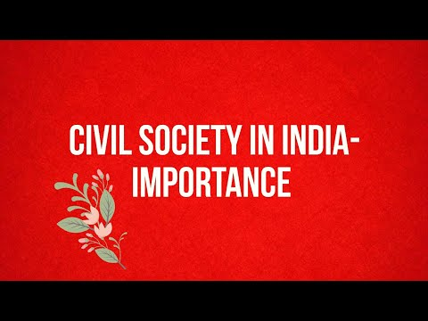 Civil society in India - The Hindu Editorial decoded