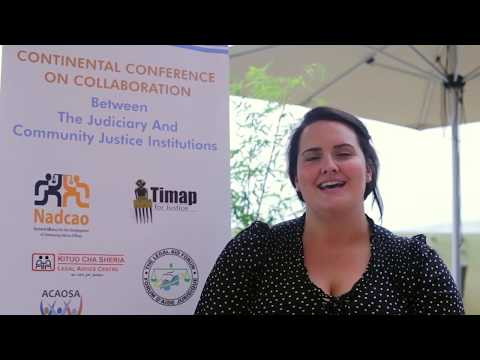 IDLO's Kimberly Brown at Continental Conference for #AccessToJustice - Kigali, Rwanda