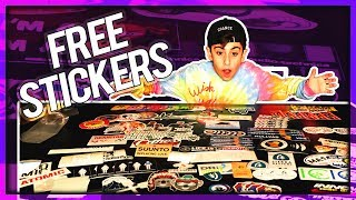 UNBOXING FREE STICKERS #6