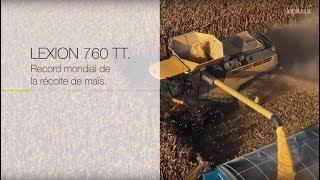 LEXION : record du monde de la récolte de maïs.