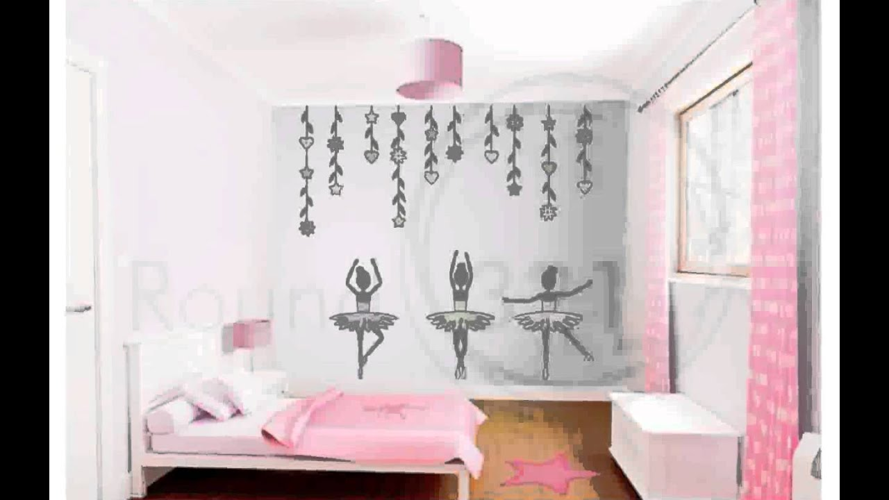 Ballet wall decals youtube for Ballerina wall mural