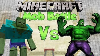 HULK Vs MUTANT ZOMBIE | Minecraft Mob Battles (HULK SMASH)