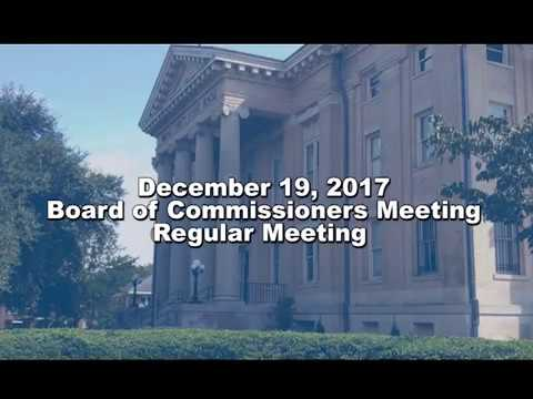 Wayne County Board of Commissioners Regular Meeting for December 19th, 2017.