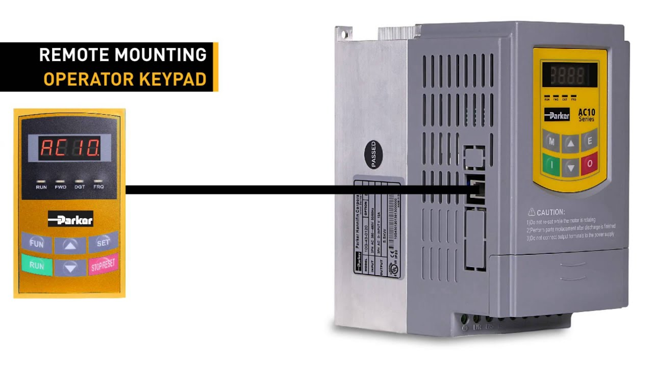 Parker's AC Variable Frequency Drives, kW Rated - AC10 Series