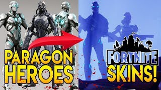 "All Paragon Heroes are the NEW FORTNITE MOONWALKER SKINS! COMET DESTROYS DUSTY DEPOT! ""SEASON 4"""
