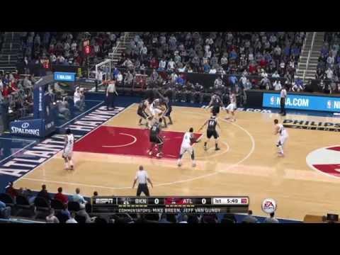 NBA Playoffs 2015 - Atlanta Hawks vs Brooklyn Nets - 1st Qrt - NBA LIVE 15 PS4 - HD