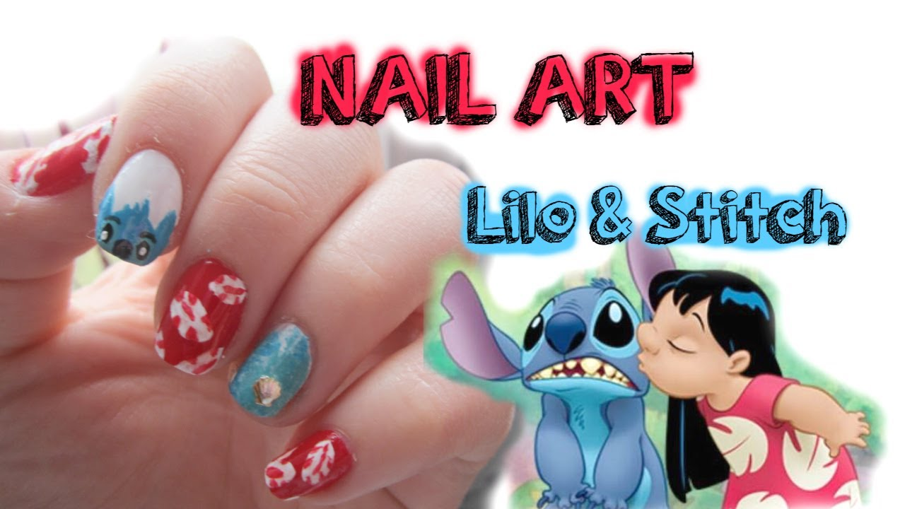 Nail art disney n°4 LILO & STITCH - YouTube