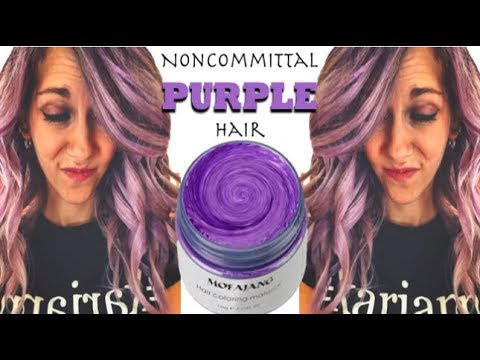 Noncommittal Purple Hair with Kariannimal