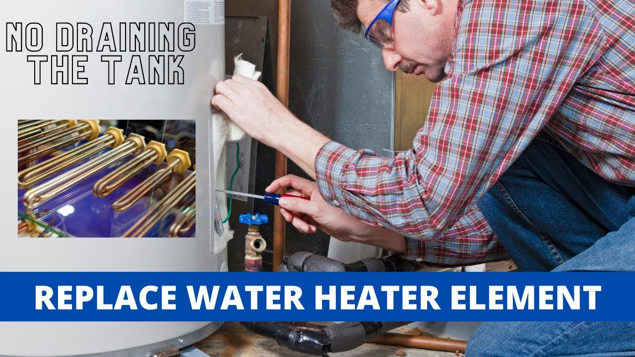 replace water heater element with full tank of water youtube. Black Bedroom Furniture Sets. Home Design Ideas