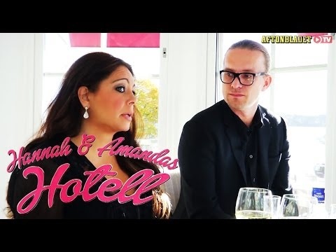 Anna Book och Liam Norberg i Hannah & Amandas hotell